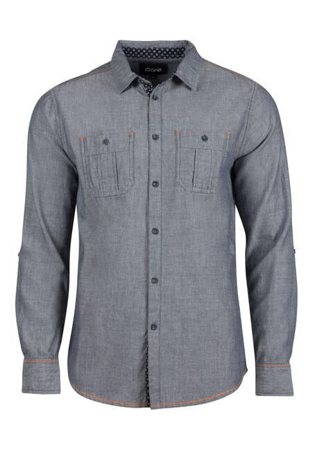 Men's Textured Roll Sleeve Shirt