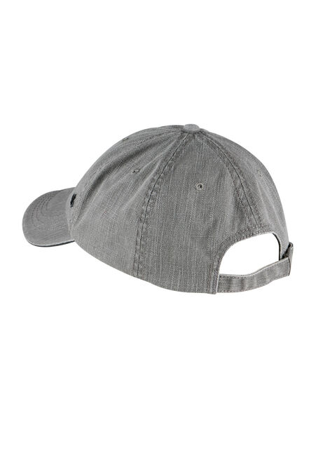 Men's Canvas Baseball Hat, GUN METAL, hi-res