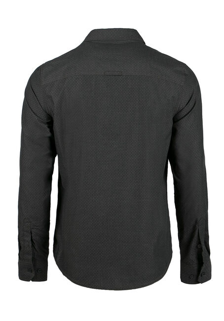 Men's Textured Pattern Shirt, Gunmetal, hi-res