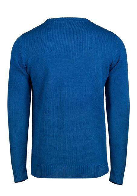Men's Santa Musical Sweater, ROYAL BLUE, hi-res