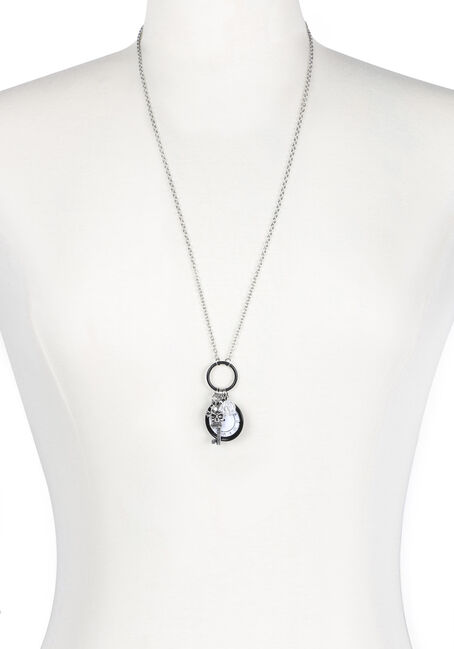 Ladies' Clock Charm Necklace