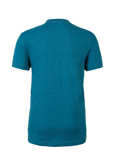 Men's V-Neck Flecked Tee, ROYAL BLUE, hi-res