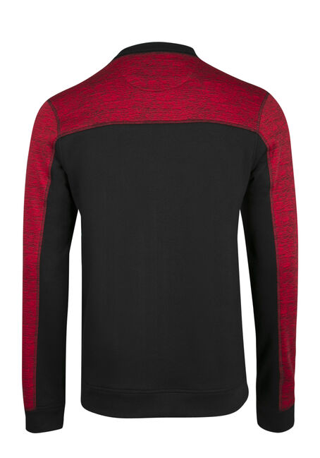 Men's Colour Block Fleece, RED, hi-res