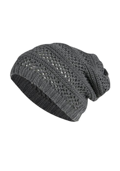 Ladies' Slouchy Hat, CHARCOAL, hi-res