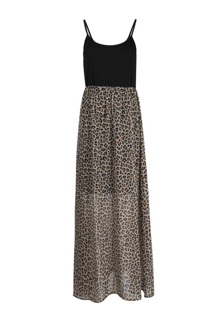Ladies' Leopard Print Maxi Dress