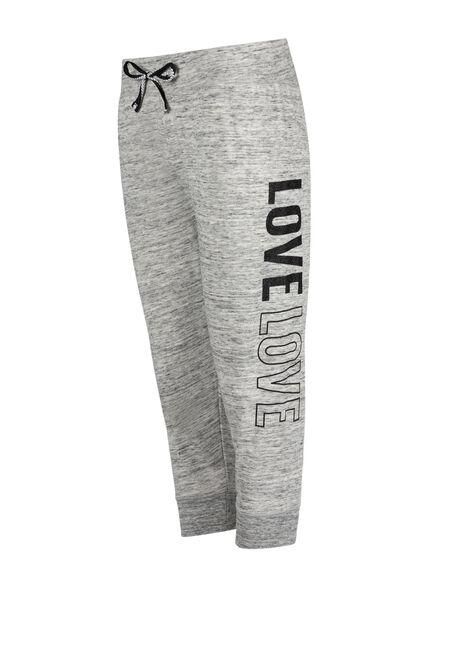 Ladies' Love Jogger Capri, GREY, hi-res