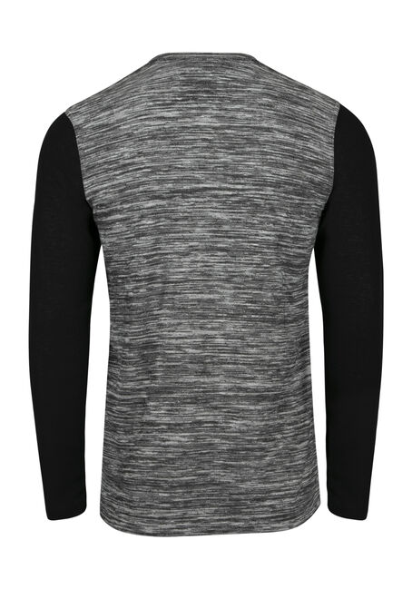 Men's Henley Pocket Tee, GREY, hi-res