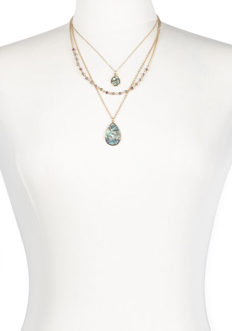 Ladies' Layered Abolone Neklace