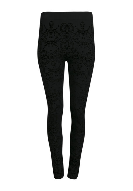 Ladies' Brocade Plush Legging