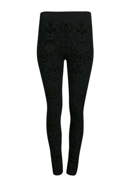 Ladies' Brocade Plush Legging