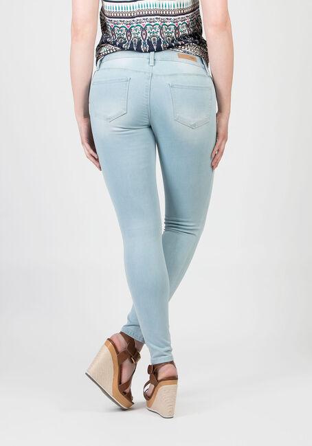 Ladies' Low Rise Skinny Jeans, BLEACH WASH, hi-res