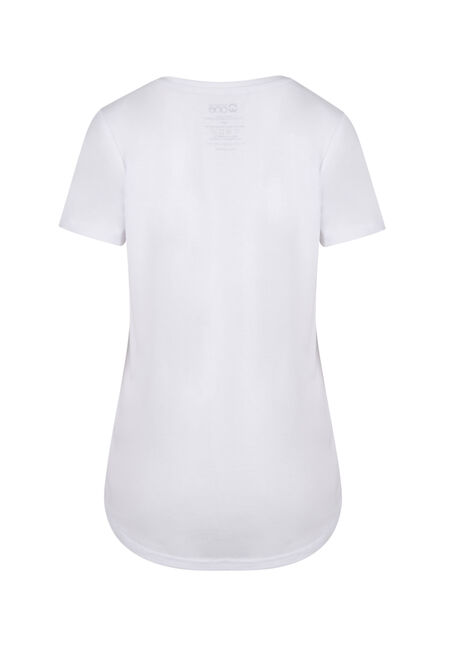 Ladies' V-Neck Tee, WHITE, hi-res
