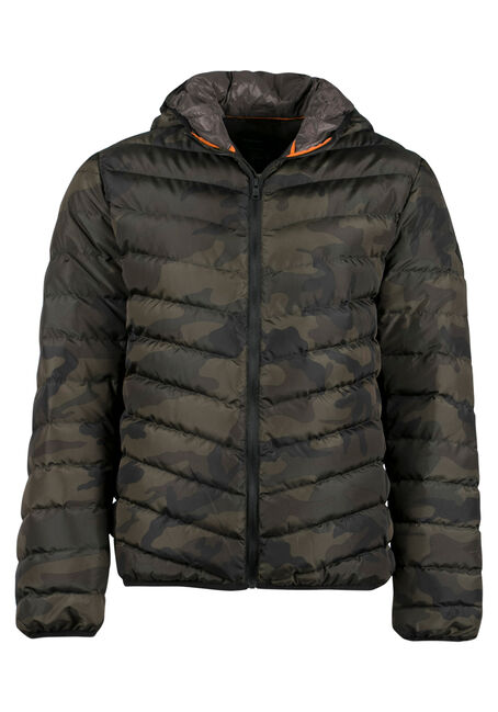 Men's Camo Puffy Jacket