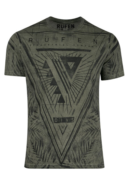 Men's Leaf Print Graphic Tee