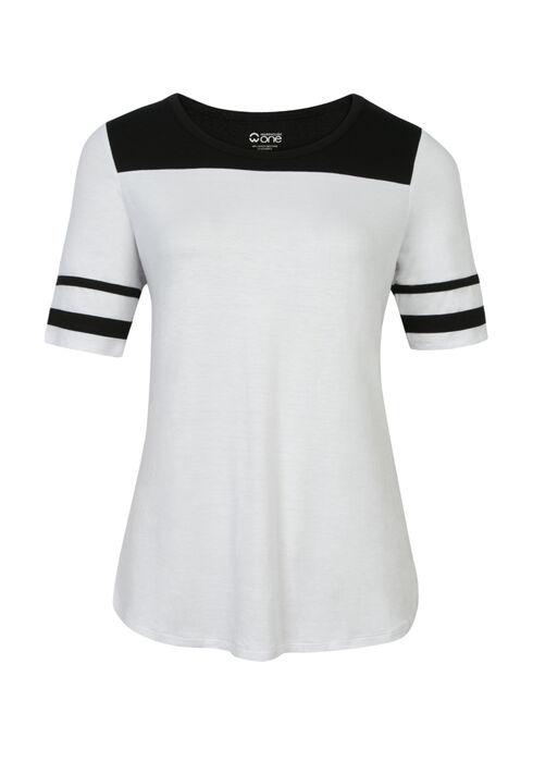 Ladies' Football Tee, WHITE/BLACK, hi-res