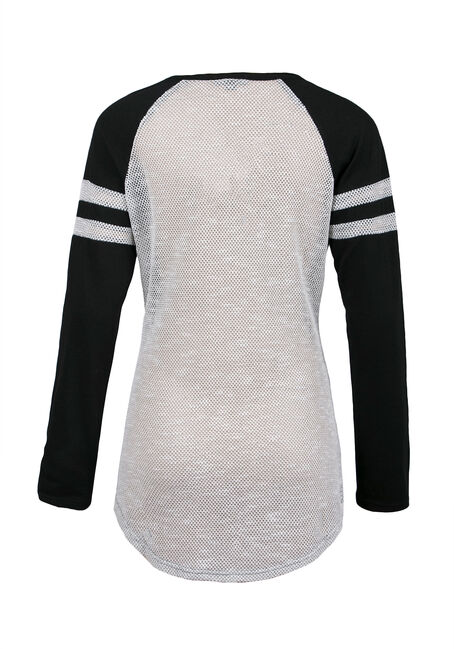 Ladies' Tunic Football Tee, CHARCOAL, hi-res