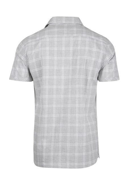 Men's Relaxed Plaid Shirt, CHARCOAL, hi-res