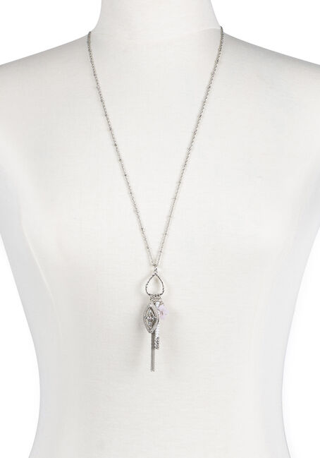 Ladies' Teardrop Charm Necklace