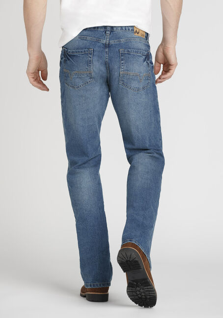 Men's Performance Straight Leg Jeans, MEDIUM WASH, hi-res