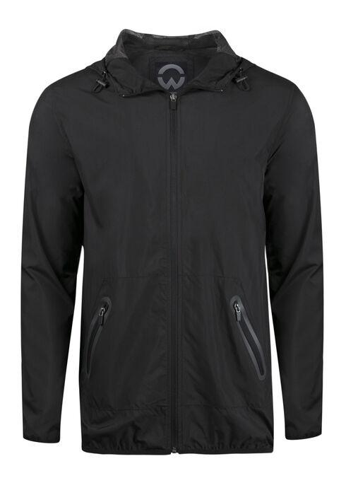 Men's Windbreaker Jacket, BLACK, hi-res
