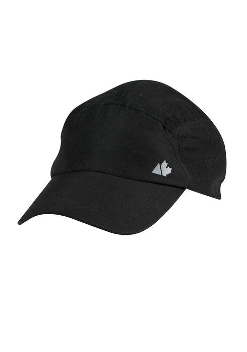 Ladies' Nylon Running Hat, BLACK, hi-res
