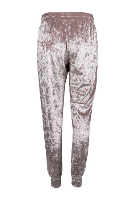Ladies' Crushed Velvet Jogger, DUSTY MAUVE, hi-res