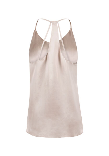 Ladies' Shimmer Strappy Tank, GOLD, hi-res