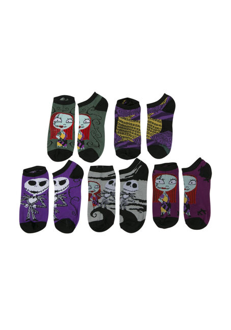 Ladies' 5 Pack Nightmare Socks, MULTI, hi-res