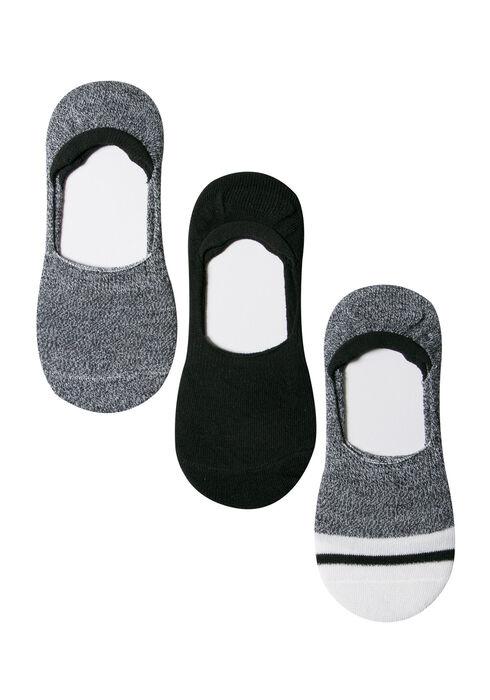 Ladies' 3 Pair Shoe Liners, BLACK, hi-res