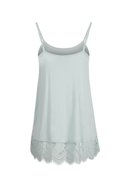 Ladies' Lace Trim Tunic Tank, MEADOW GREEN, hi-res