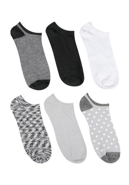 Ladies' 6 Pair Dot Socks