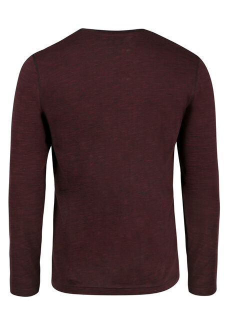 Men's Everyday Y-Neck Tee, Burgandy, hi-res