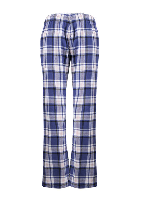 Ladies' Plaid Lounge Pant, PURPLE, hi-res