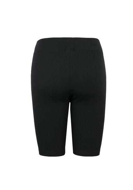 Ladies' Wide Waistband Bermuda Short, BLACK, hi-res