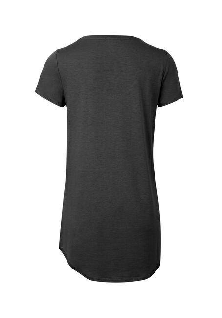 Ladies' Drapey Tunic Tee, BLACK, hi-res