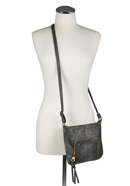 Ladies' Crossbody Bag, GREY, hi-res