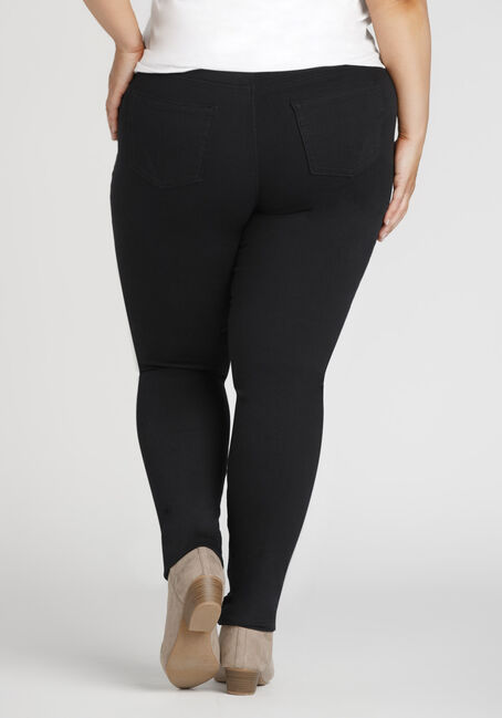 Ladies' Plus Colour Last Skinny Jeans, BLACK, hi-res