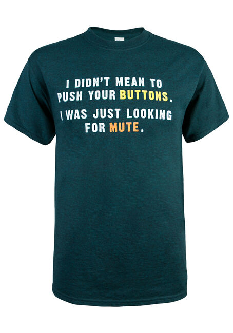 Men's Looking For Mute Button Tee, BLUE, hi-res