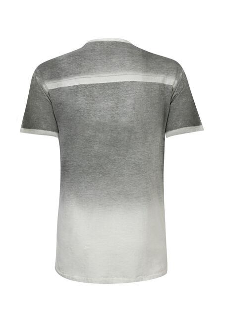 Men's Y-neck Graphic Tee, CHARCOAL, hi-res