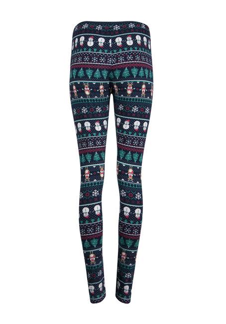 Ladies' Holiday Legging, NAVY, hi-res
