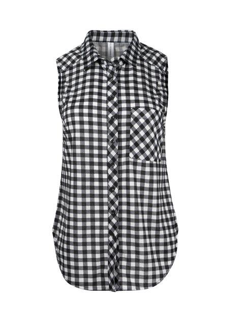 Ladies' Knit Gingham Shirt