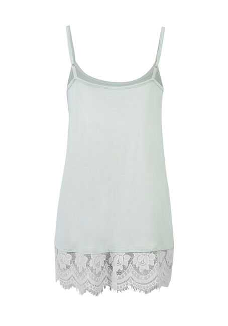 Ladies' Lace Trim Tunic Tank, MORNING MIST, hi-res
