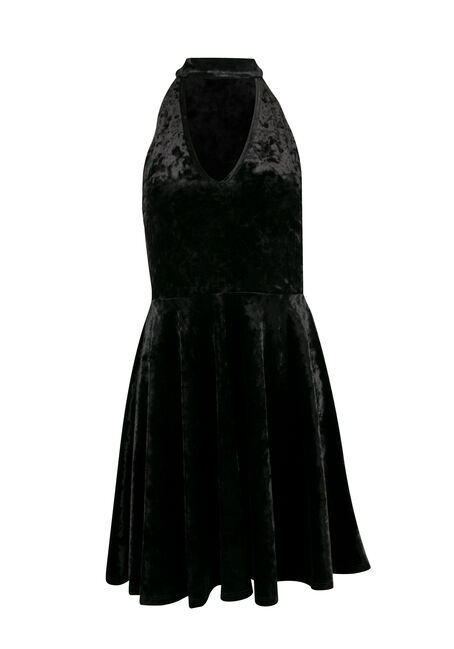 Ladies' Velvet Skater Dress
