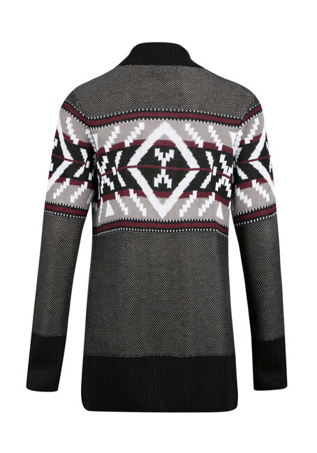 Ladies' Geometric Open Cardigan, MULTI, hi-res