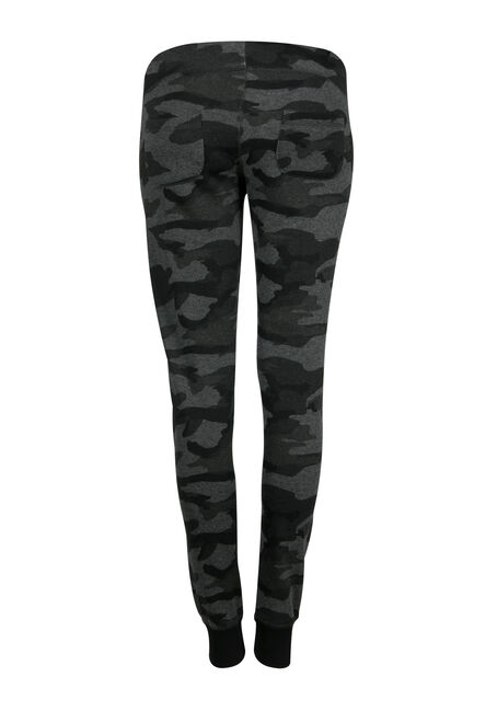 Ladies' Plus Size Camo Jogger, CHARCOAL, hi-res