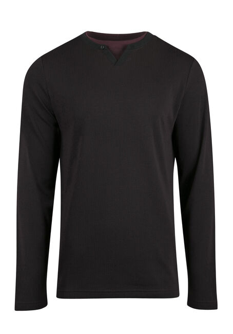 Men's V-neck Rib Knit Top