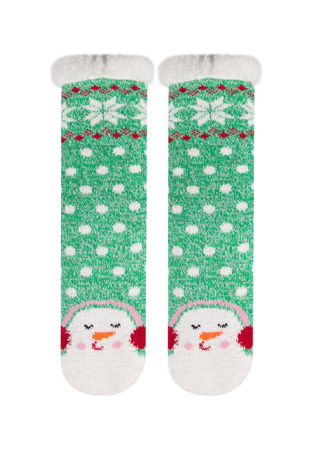 Ladies' Snowman Slipper Socks