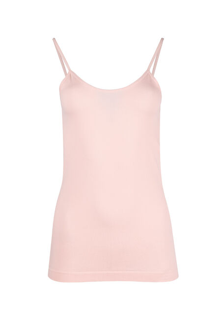 Ladies' Seamless Strappy Tank, PEACH, hi-res