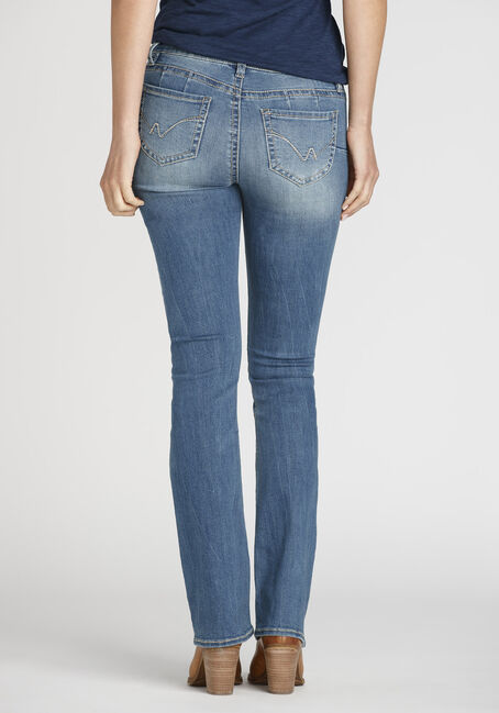 Ladies' Baby Boot Jeans, LIGHT WASH, hi-res