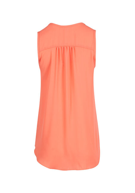 Ladies' Pleat Front Tank, TOUCAN, hi-res